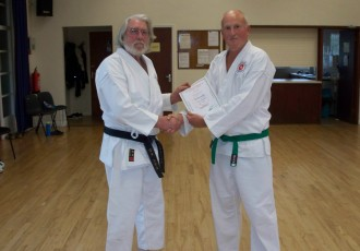 Michael Promoted to 5th Kyu