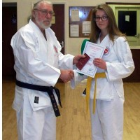 Sophia Receives 5th Kyu Award From Reg