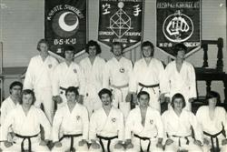 Karate Students in Ilkeston near Nottingham in the early 1970s