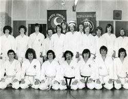 Karate Students in Ilkeston, Derby in early 1970s