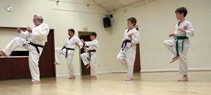 Reg Andrew Takes A Karate Class at The Bushinkai Karate Do Karate Club in Ilkeston, Derby