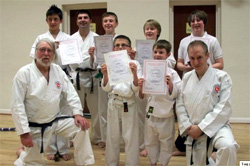 Reg Presents Awards To The Karate Group