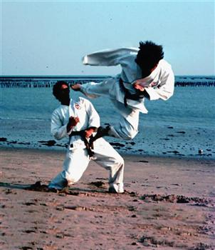 Flying Karate Kick!
