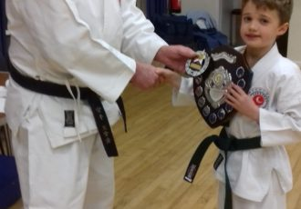 Henry receives cadet of the year 2018 award from Sensei Reg